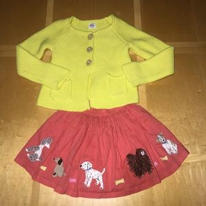 👧🏼Mini Boden Yellow Cardigan